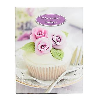 New Gifted Cupcake Notepad And Envelope Purple
