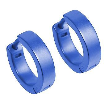 TI2 Titanium flache Manschette Creolen - Marineblau