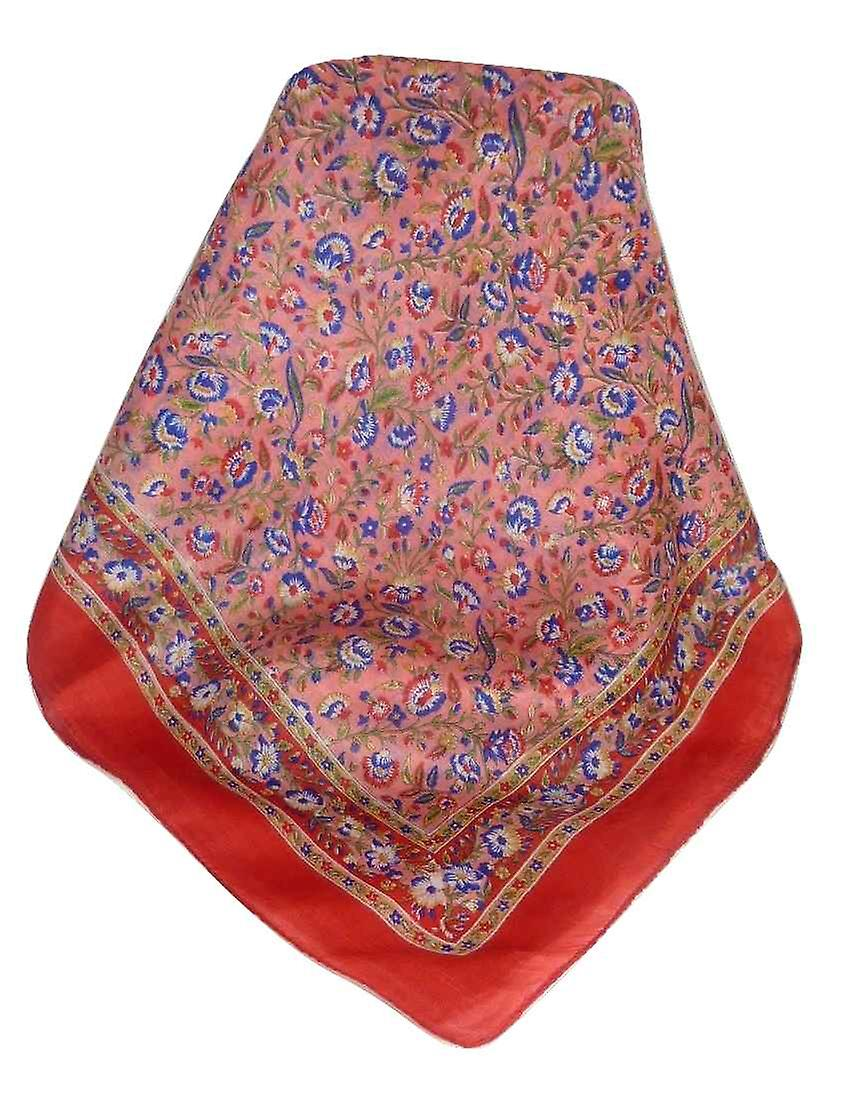 Mulberry Silk Traditional Square Scarf Imri Flame by Pashmina & Silk