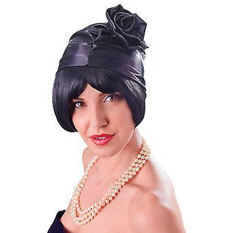 Cloche 20 's Hat. Zwart
