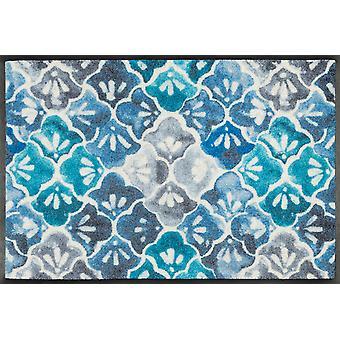 tvätt + torr blå mark matta tvättbara smuts matta