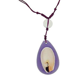 The Olivia Collection Nautical Underwater Life Necklace with REAL Shell Set In Purple Resin