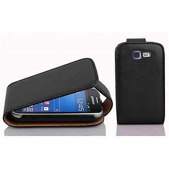 Cadorabo Hülle für Samsung Galaxy TREND LITE Case Cover - Handyhülle im Flip Design aus strukturiertem Kunstleder - Case Cover Schutzhülle Etui Tasche Book Klapp Style