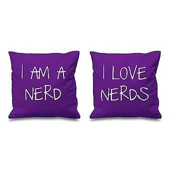 I Am A Nerd I Love Nerds Purple Cushion Covers 16