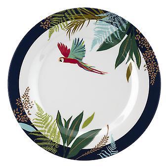 Sara Miller papagal set de 4 melamine laterale plăci