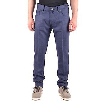 Jacob Cohen Ezbc054136 Hombres's Pantalones de Lana Azul