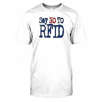 Powiedzieć, No to RFID - spisek męskie T Shirt