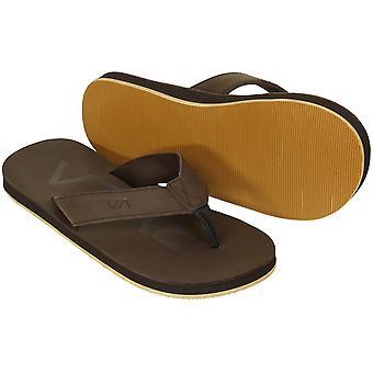 RVCA Mens VA Sport sandales fédérales - brun foncé