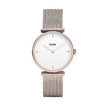 Cluse Watches Cl61003 Triomphe Rose Gold Bicolour Mesh Ladies Watch