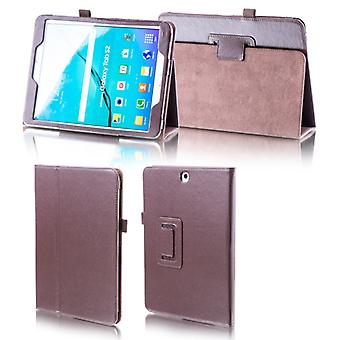 For Samsung Galaxy Tab S5e 10.5 T720F Brown Faux Case Cover Bag Case New