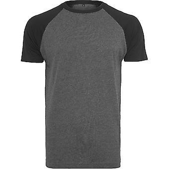 Cotton Addict Mens Raglan Contrast Short Sleeve T Shirt