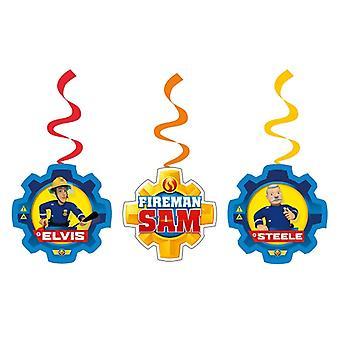 Feuerwehrmann Sam 6 Dekospiralen Deko Fireman Sam Samparty Kindergeburtstag
