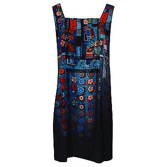 Aventures des Toiles ärmlös Art Print blå sön klänning