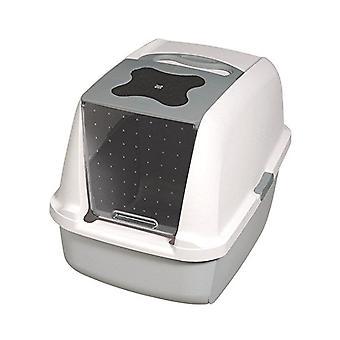 Catit Hooded Cat Litter Box - Grey