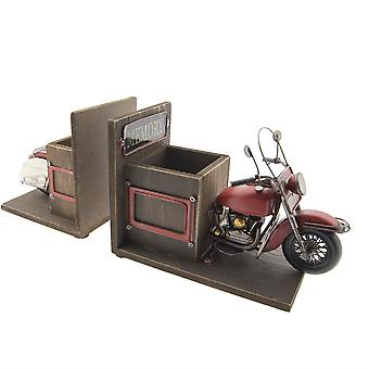 Books support and pen holder motorcycle