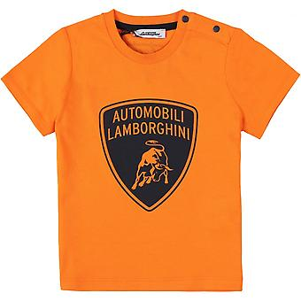 Lamborghini Kids Automobili Lamborghini Toddler T-Shirt,Orange