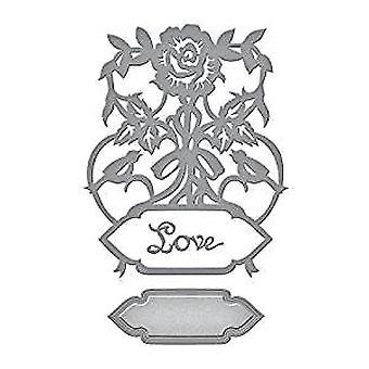 Spellbinders Designer Series Rose Bird Topiary Die (S4-846)