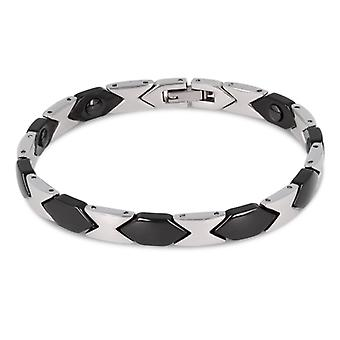 Bracelet Céramique Et Acier Inoxydable 316l 21cm
