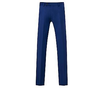 Dobell Mens Bright Blue Suit Trousers Regular Fit