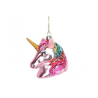 Gisela Graham Plush Unicorn Head