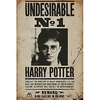 Harry Potter uønskede ingen 1 Maxi plakat 61x91.5cm