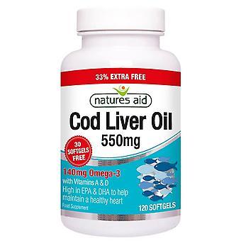 Nature's Aid Cod Liver Oil 550mg Softgels 120 (13435)