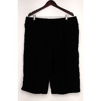 Attention Pants Capri Length Detailed w/ Pockets Black Womens