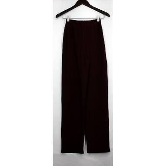 Susan Graver Pants Essentials Lustra Knit Reg Cabernet Red A240100