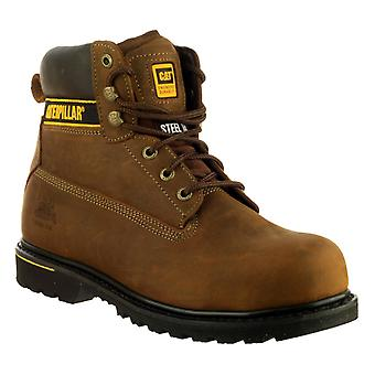 Caterpillar Mens Holton Safety Boot Brown
