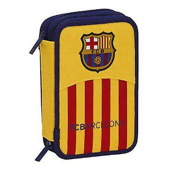 F.C. Barcelona Small Double pencil case 34 Pieces FC Barcelona