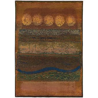 Kharma ii 167x4 gold/green indoor area rug rectangle 6'7