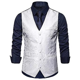 Allthemen miesten ' s painettu Banquet Business rento V-kaula puku liivi 4 väriä
