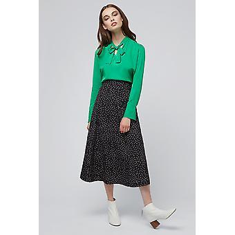 Louche Kiyo Spot Midi Skirt Black