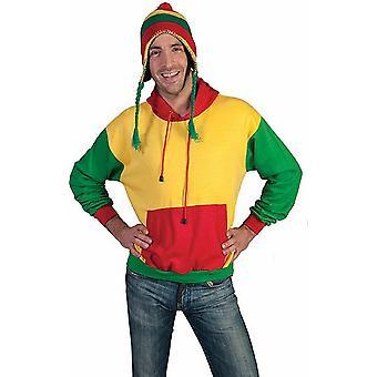 Hoodie Kapuzen Pullover Jamaika Pulli Uniex Kostüm