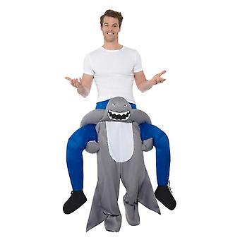 Piggyback mens Shark Fancy Dress Costume
