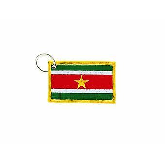 Cle Cles Schlüssel Brode Patch Ecusson Abzeichen Suriname Flagge Tür