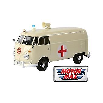 MotorMax MotormaxMotormax Volkswagen VW Type 2 (T1) Ambulance - Cream  1:24