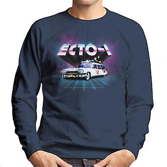 Ghostbusters ECTO 1 Retro 80's Men's Sweatshirt