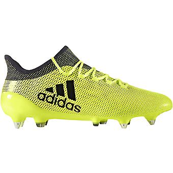 adidas Perfromance Mens X 17.1 Soft Ground Sports Football Boots Shoes - Yellow