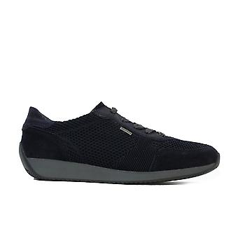 Ara Lisbon Fusion 4 44063-02 Navy Knitted Mesh Womens Lace Up Trainers