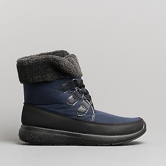 Dr Keller Ghillie Ladies Ankle Boots Navy