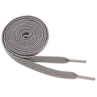 "Flat Shoelaces 5/16"" Wide Solid Colors Several, Dark Gray, Size 45"" (114 cm)"