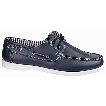 Fleet & Foster Mens Falmouth Lace Up Casual Boat Shoe