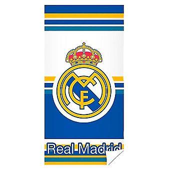 Real Madrid Asciugamano da bagno ad asciugatura rapida 140 x 70 cm bianco/blu/giallo