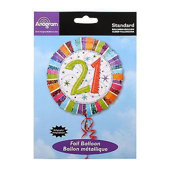 Partymor Unisex Bday 21 Foil Balloon