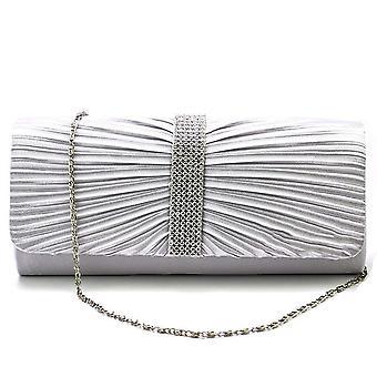 Vincenza mode damer elegant satin diamante kristall spets plånbok