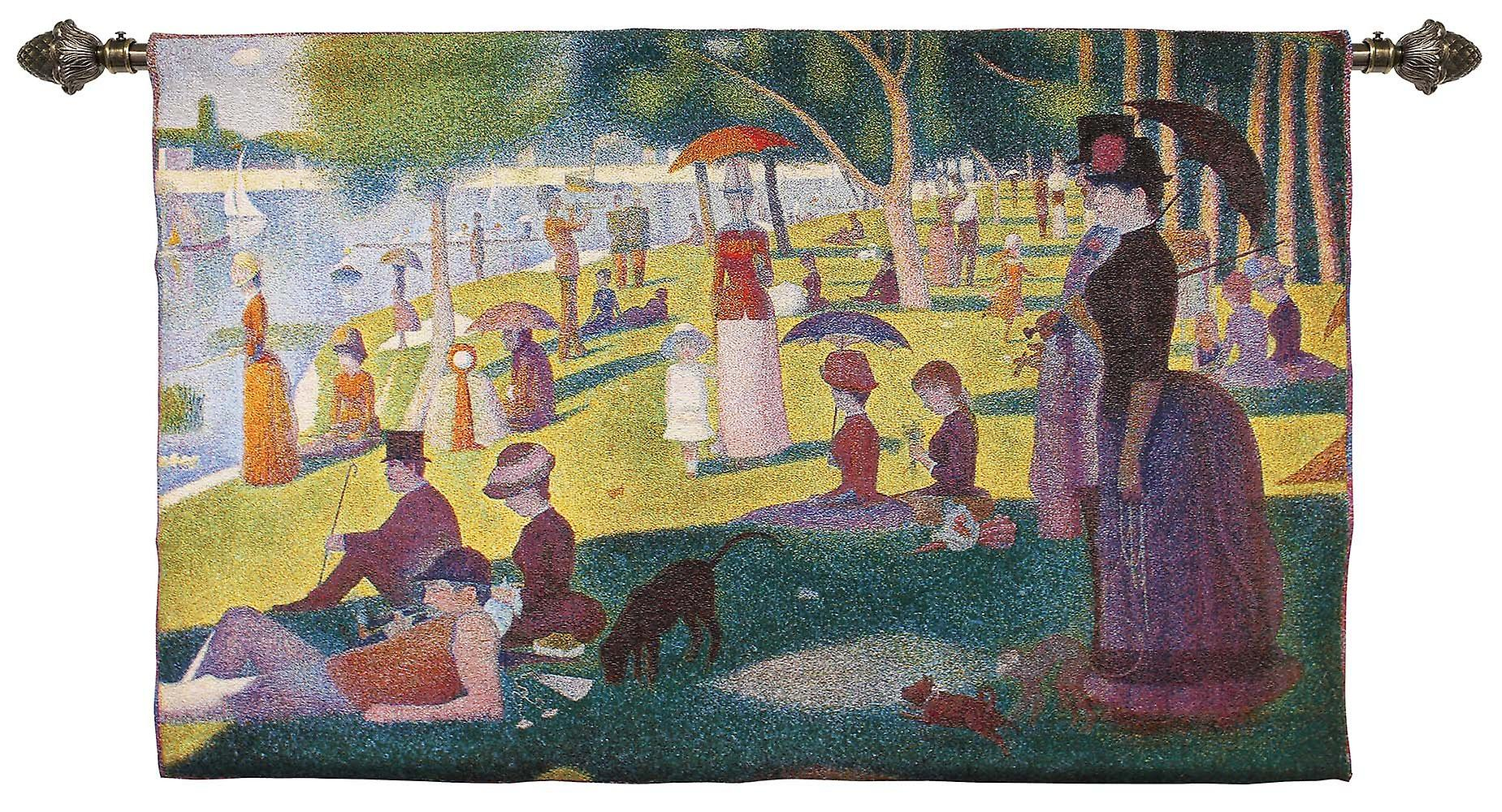 Georges seurat - la grande jatte wall hanging by signare tapestry / 173cm x 68cm / wh-gs-lgj