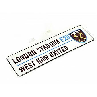 West Ham United FC New Crest 3D Embossed Metal Hanging Street Sign
