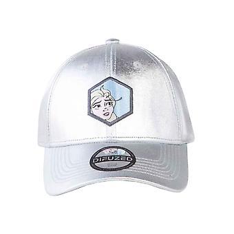Zmrazené baseballové víčko Elsa film logo nový oficiální stříbrný Strapback