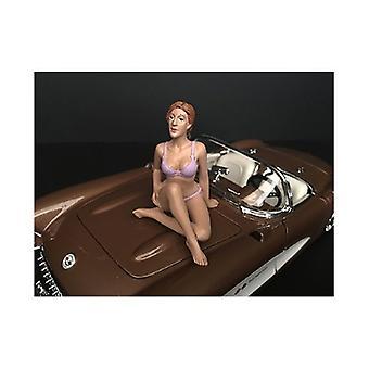 September Bikini Kalender Mädchen Figur für 1/24 Skala Modelle von Amerikanischen Diorama